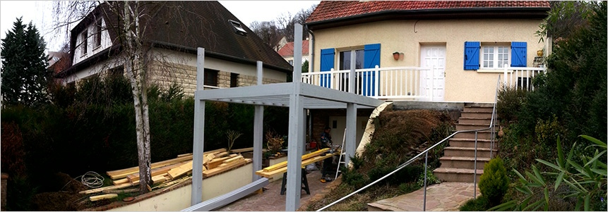 Extension terrasse bois 78 for Extension sur terrasse